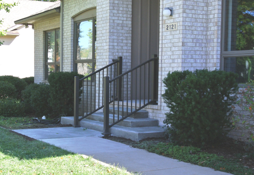 New Front Steps & Handrails - 2