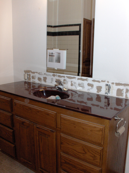 Original sink & counter