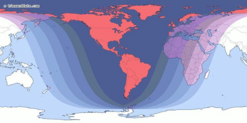 Total Lunar Eclipse path 2019Jan20&21