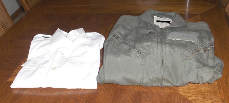 Shirt & Green Bag