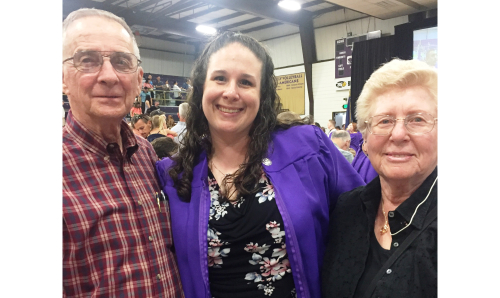 2019May16 - JDH's RN Pinning Ceremony - with Grandparents