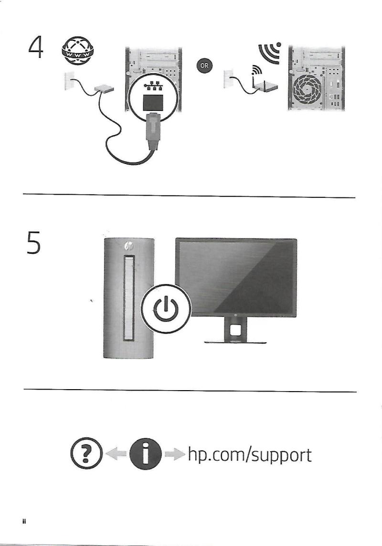 HP Quick Setup Guide - Oversheet