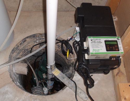 New Sump Pump System Installed 2020Jan15