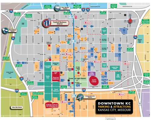 Downtown KC Map