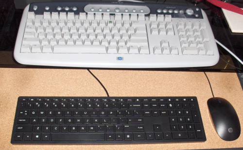 Compare old & new keyboards