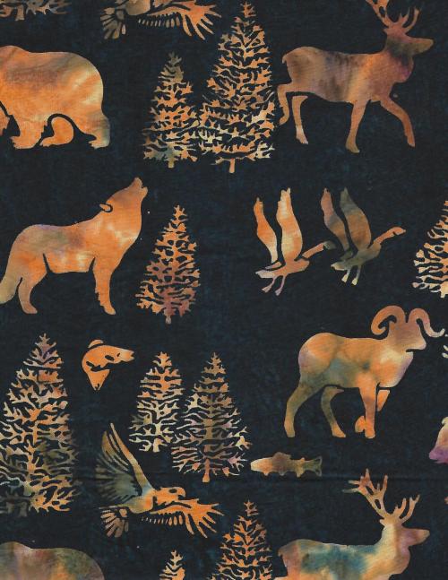 Animals  Birds  Trees Batik - unidirectional