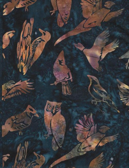 Birds - Batik - unidirectional