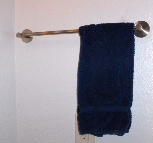 Towel on Towel Bar