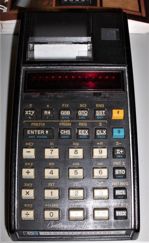 2019Dec12 HP 19C (circa 1978)