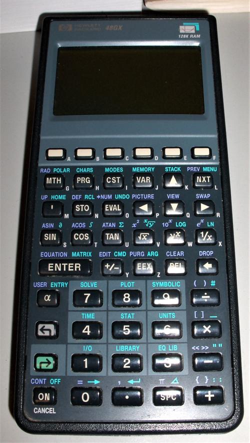 2019Dec12 - HP 48GX (circa 1990)