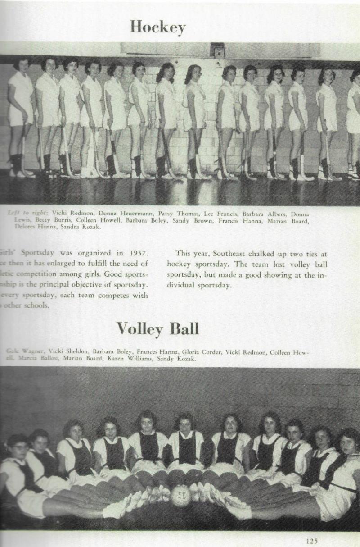 1956 - SE HS girls' hockey team