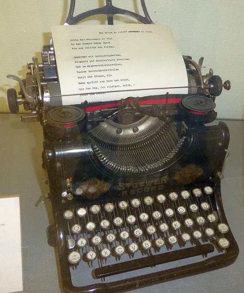 Typewriter ringelnatz