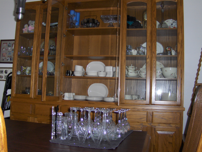 2021-7-12 - Annual Cleaning of China Cabinet - 2nd third