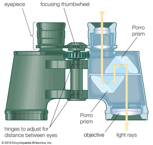 Binocular-portion-instrument-path-light